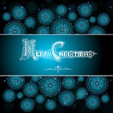 Winter card with snowflakes and merry christmas. Lettering Royalty Free Stock Images