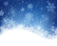 Winter card. With snowflakes. Vector paper illustration Stock Photography