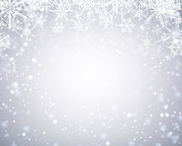 Winter card. With snowflakes. Vector paper illustration Royalty Free Stock Image