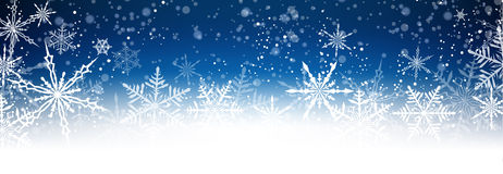 Winter card. With snowflakes. Vector paper illustration Royalty Free Stock Photography