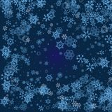 Winter card with snowflakes. Vector paper illustration. Winter card with snowflakes. paper illustration Stock Images