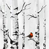 Winter card in vector Royalty Free Stock Images