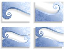 Winter cards. Blue christmas cards with snowflake Royalty Free Stock Image