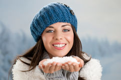 Winter carefree Stock Images
