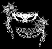 Winter carnival masks Royalty Free Stock Photos