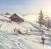 Winter Carpathian landscape Royalty Free Stock Image