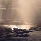 Winter Carpathian landscape Stock Photo
