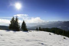 Winter in Carpathian mountains Stock Photo