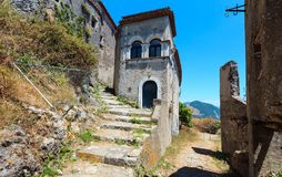 Ruins of the original settlement of Maratea. italy Stock Images