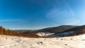 Panoramic view of beautiful mountain village royalty free stock images