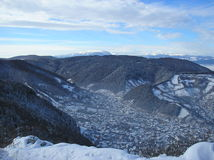Winter in the Carpathian Mountains, Romania Royalty Free Stock Photography