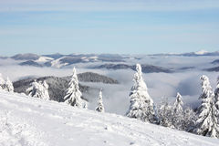 Winter landscape in mountains Stock Image