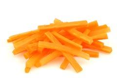 Winter carrot cut in julienne stock image