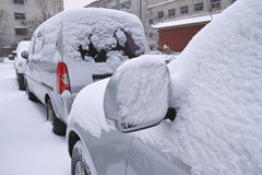 Winter cars royalty free stock photography