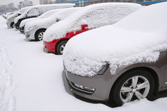 Winter cars stock images