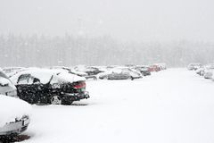 Winter cars Royalty Free Stock Photos