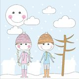 Winter cartoons Royalty Free Stock Image