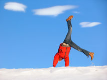 Winter Cartwheel Royalty Free Stock Photos