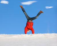 Winter Cartwheel Stock Photo