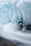 Winter Cascade Stock Photo