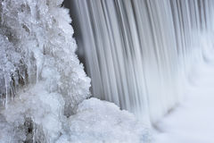 Winter Cascade Bear Creek Royalty Free Stock Images