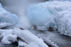 Winter Cascade and Ice Royalty Free Stock Photo