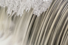 Winter Cascade and Ice Stock Images