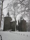 Winter at Castell Coch near Cardiff. Snow scene of Castell Coch, Castle Coch, sometimes known as The Fairytale Castle, Tongwynlais, Cardiff, Wales, UK royalty free stock images