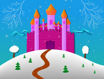 Winter Castle. Winter Cartoon Fairy Tale Castle. EPS 10 Vector illustration vector illustration