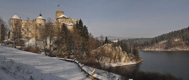 Winter Castle. Medieval castle in Niedzica in Southern Poland Stock Image