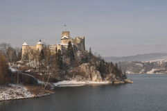 Winter Castle. Medieval castle in Niedzica in Southern Poland Royalty Free Stock Image