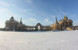 Winter castle in Potsdam Royalty Free Stock Photos