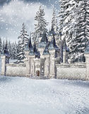 Winter castle Royalty Free Stock Photo
