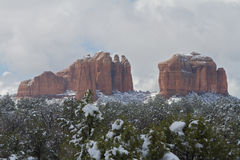 Winter at Cathedral Rock Royalty Free Stock Photos