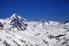 Winter Caucasus Mountains in nice sun day Stock Image
