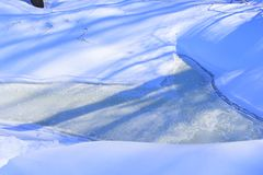 Winter is caused by the axis of the Earth in that hemisphere being oriented away from the Sun. Winter is the coldest season of the year in polar and temperate royalty free stock images