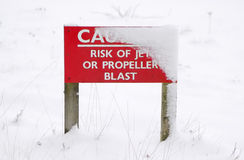 Winter caution Royalty Free Stock Image