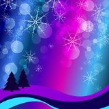 Winter celebration christmas illustration  silhouette tree Royalty Free Stock Photo