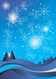 Winter celebration christmas illustration vector silhouette Royalty Free Stock Images