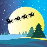 Winter celebration christmas illustration vector silhouette. Tree Stock Images