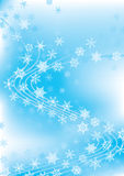 Winter Celebration Dancing Snowflakes_eps. Illustration of light background. Sky, cloud atmosphere celebration with dancing snowflakes Royalty Free Stock Photo