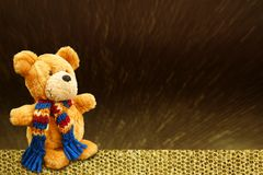 Winter Celebration Greeting Card Teddy Bear Stock Photography