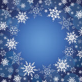 Winter celebratory background with snowflakes Royalty Free Stock Photography