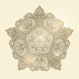 Winter celtic knot pattern card, mandala, amulet Royalty Free Stock Photos