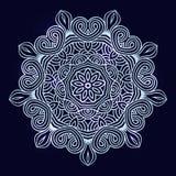 Winter celtic knot pattern card, mandala, amulet Royalty Free Stock Photography