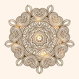 Winter celtic knot pattern card, mandala, amulet Stock Image