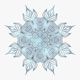 Winter celtic knot pattern card, mandala, amulet Royalty Free Stock Photography