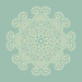Winter celtic knot pattern card, mandala, amulet Stock Image