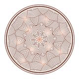 Winter celtic knot pattern card, mandala, amulet Royalty Free Stock Photo