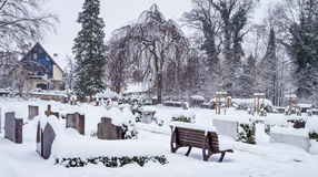 Winter Cemetery Royalty Free Stock Image